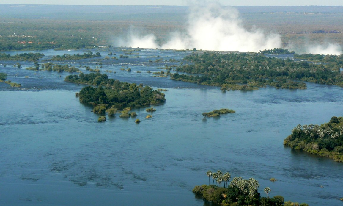 One of the many views of Victoria Falls from a helicopter - photo by E. Jurus