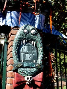 The gates to the Haunted Mansion, Jack Skellington-style - photo by E Jurus