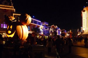 Main St USA on Halloween Night - photo by E Jurus