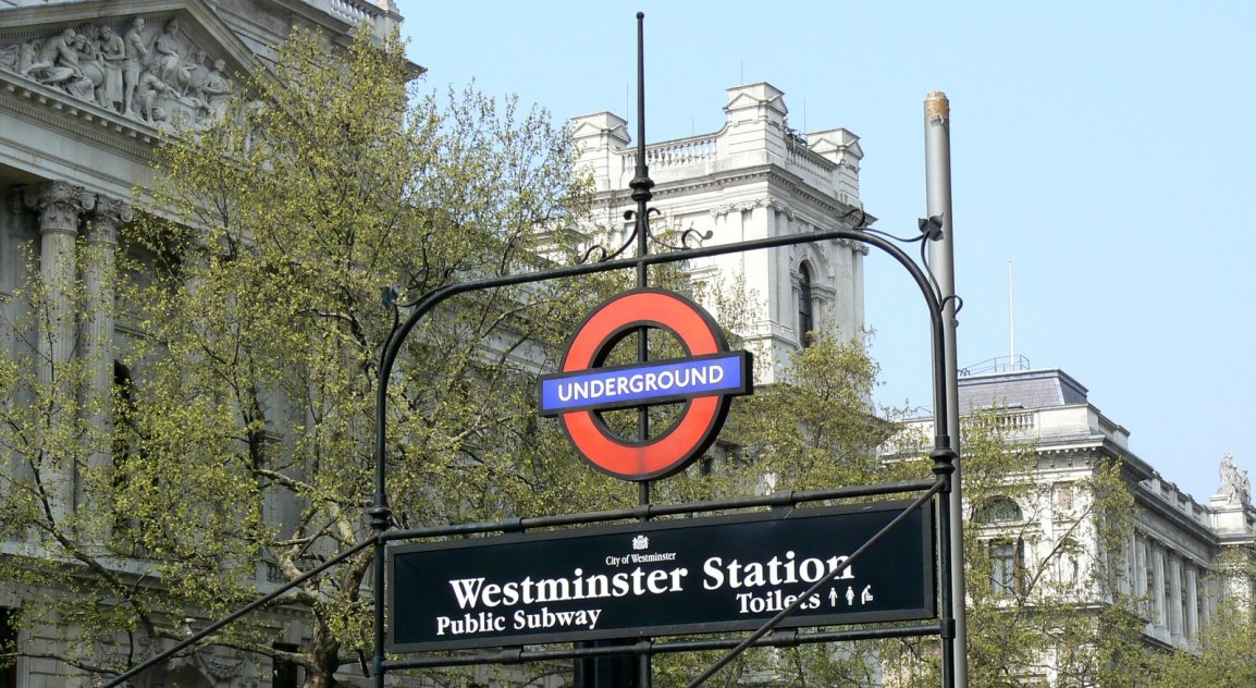 The iconic logo for The Tube, as the London subway system is locally known