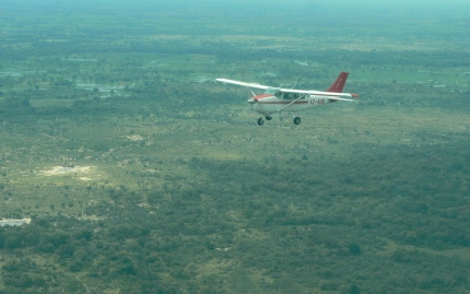 A real African adventure: taking a small bush plane to a fly-in camp in the Okavango Delta - photo by E Jurus