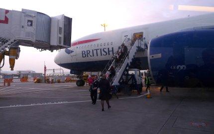 Early-morning landing at Heathrow