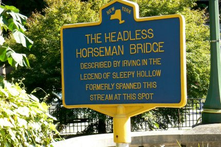 For all fans of the new TV series Sleepy Hollow, you can really go there and visit the Headless Horseman Bridge - photo by E Jurus