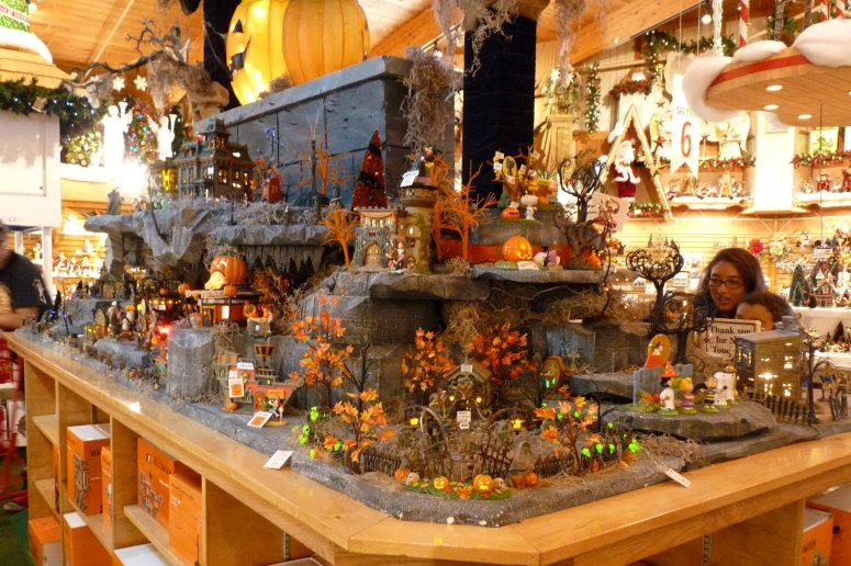 Halloween-village display at Bronner's Christmas Wonderland in Frankenmuth, MI  - photo by E Jurus