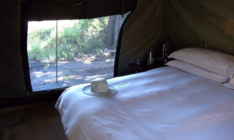 Safari tent, Okavango Delta, Botswana - photo by E Jurus