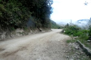 Approaching one of the switchbacks on the road to Machu Picchu - photo by E. Jurus