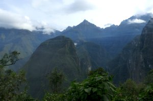Looking out from the Machu Picchu switchback road - photo by E. Jurus