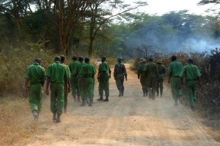 Firefighters out patrolling as we went on our afternoon game drive - photo by E. Jurus