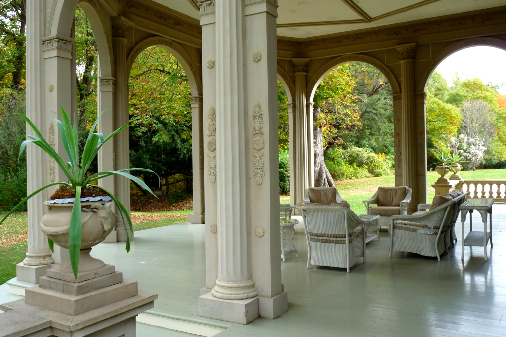 One of the outdoor terraces - photo by E. Jurus