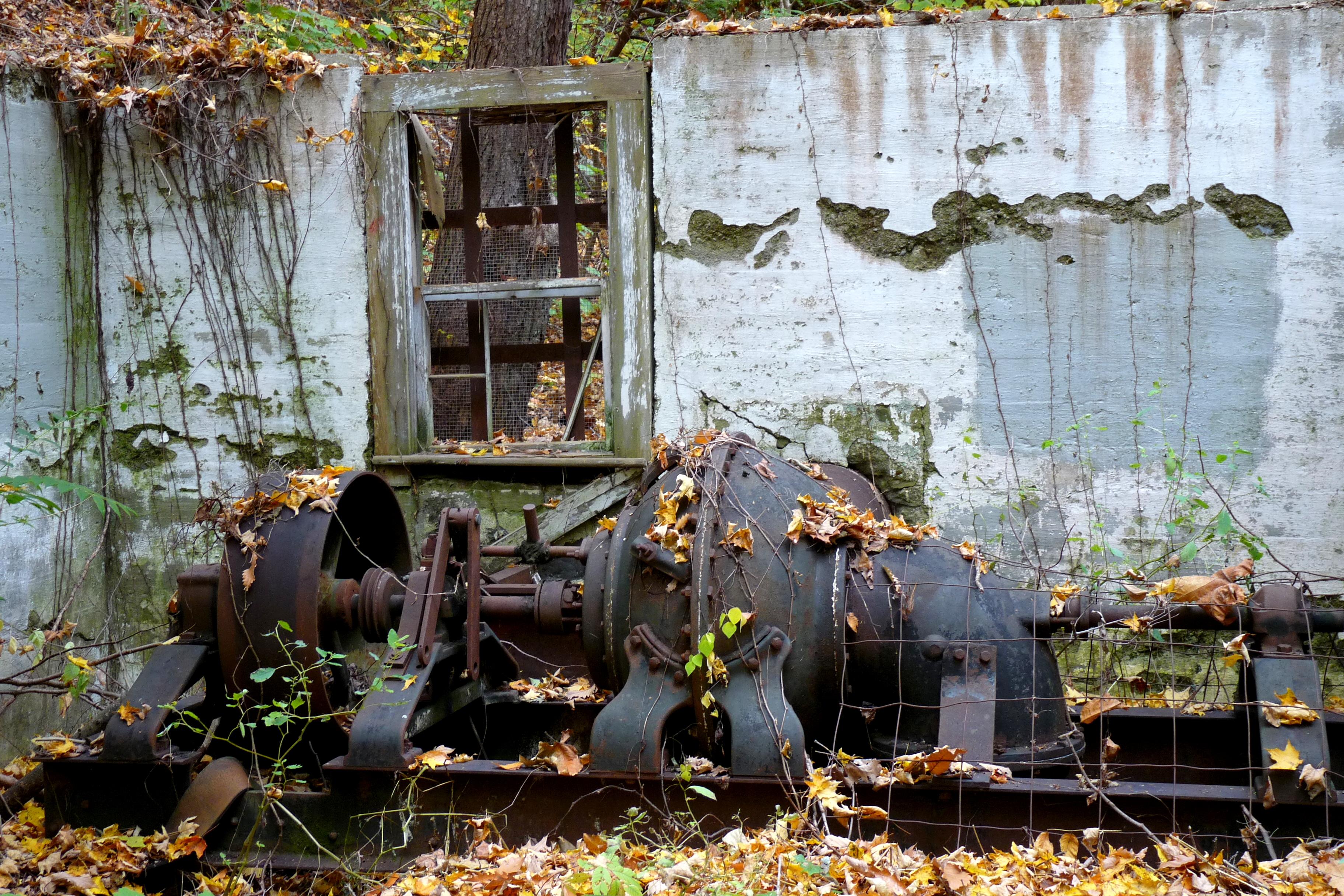 Abandoned power station, Montgomery Place estate NY - photo by E. Jurus