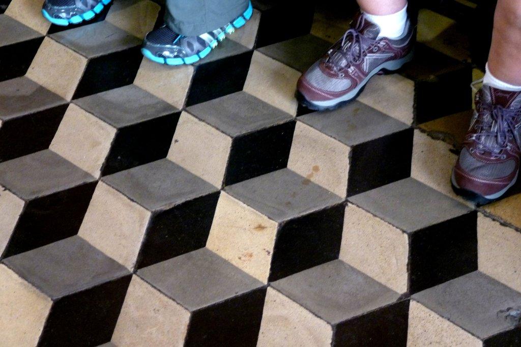 Tromp l'oeil floor in the Convent of Santo Domingo, Lima Peru - photo by E. Jurus