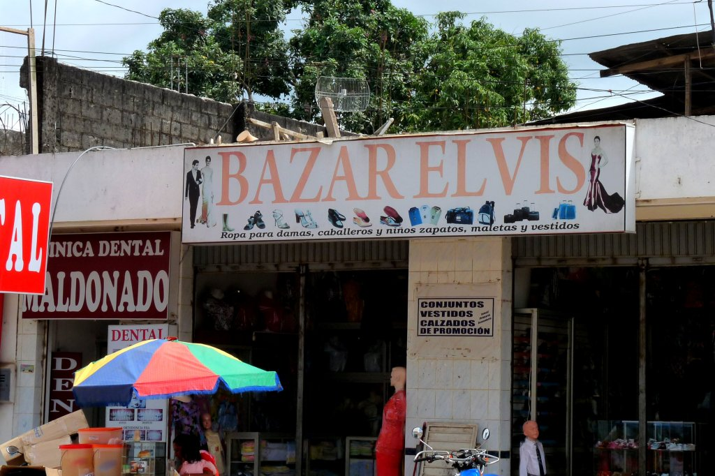 Funky shop sign in Puerto Maldonado - photo by E. Jurus