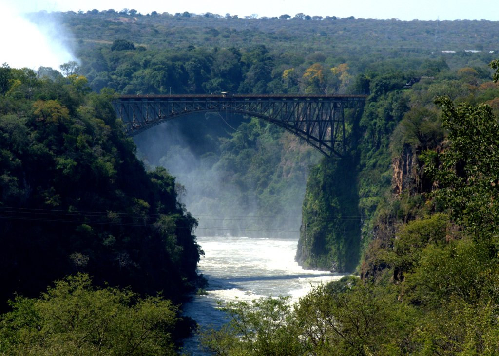 Victoria Falls Bridge straddles the Zambezi between Zambia & Zimbabwe - photo by E Jurus