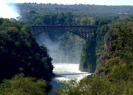 Victoria Falls Bridge straddles the Zambezi between Zambia & Zimbabwe - photo by E Jurus