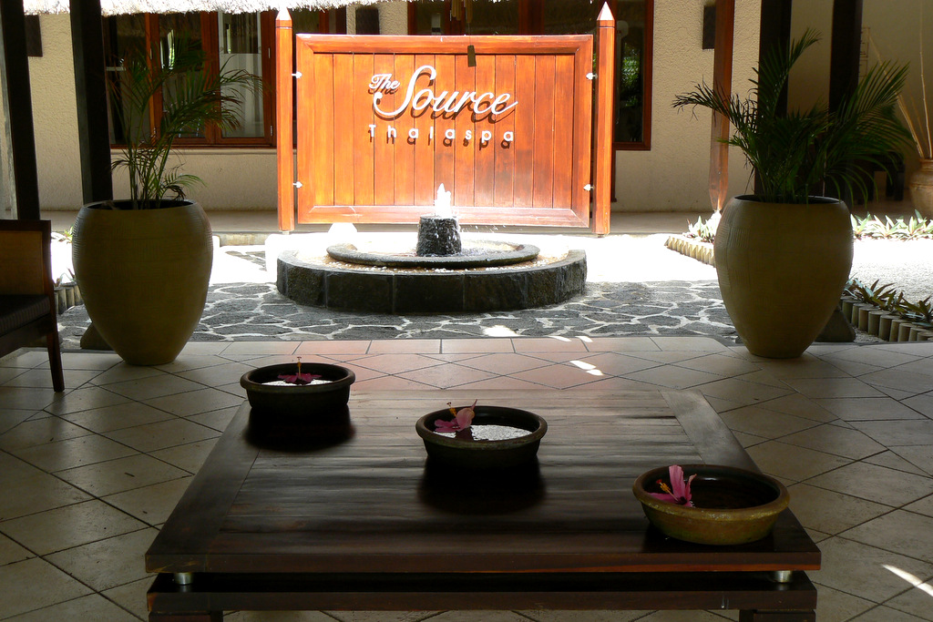 Entrance to the spa at Legends Resort, Mauritius
