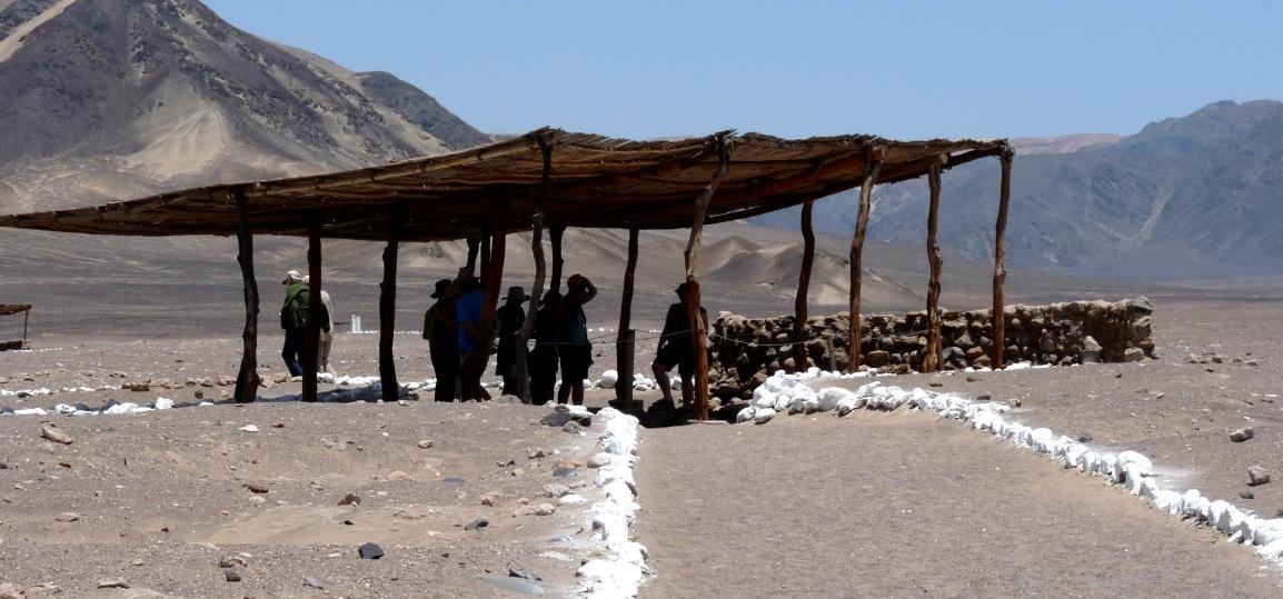 A burial site in Chauchilla, Peru